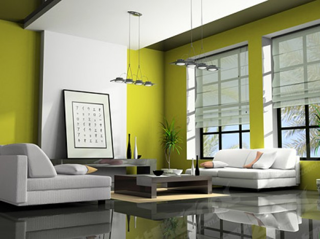 green-modern-living-room-picture-material_38-5942